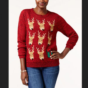 Reindeer holiday sweater/ ugly sweater